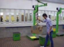 Manipulační krabic v celkové ergonomii a bezpečnosti, s průmyslovými manipulátory INDEVA, které zvyšují produktivitu firmy.