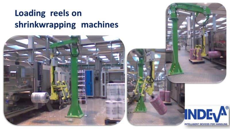 Beladung von Rollen auf Verpackungsmaschinen und Schrumpffolienwicklern