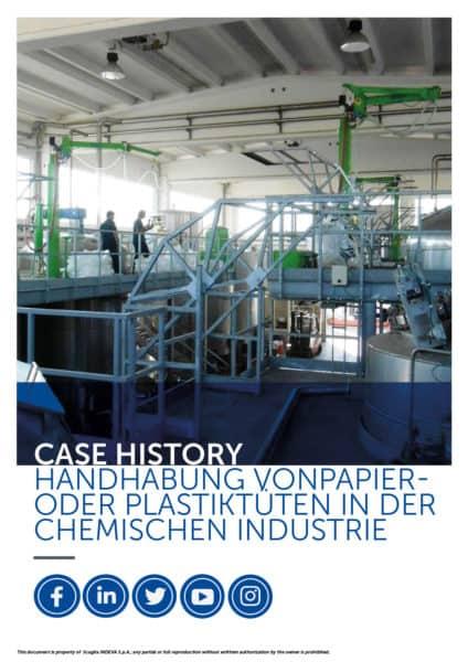 INDEVA-Fallbeispiele: Handhabung von Papier- und Plastiktüten in der chemischen Industrie in absoluter Ergonomie und Sicherheit zur Steigerung der Produktivität.