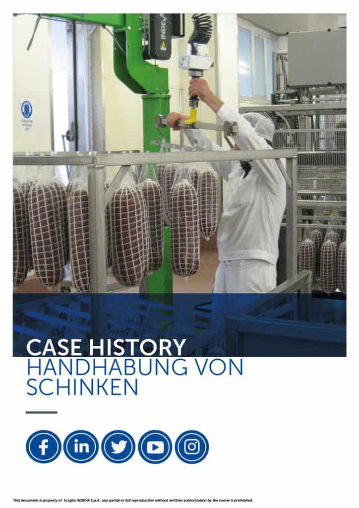 Die Erfolgsgeschichten von Indeva: Präziser Umgang mit Schinken, Steigerung der Ergonomie und Sicherheit im Unternehmen bei gleichzeitiger Produktivität.