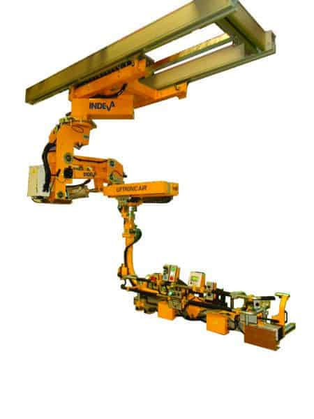 Overhead rail mounted Liftronic Air manipulator