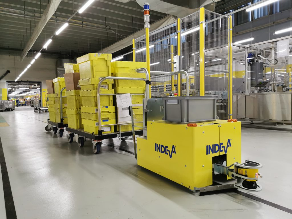 agv mail sorting plant