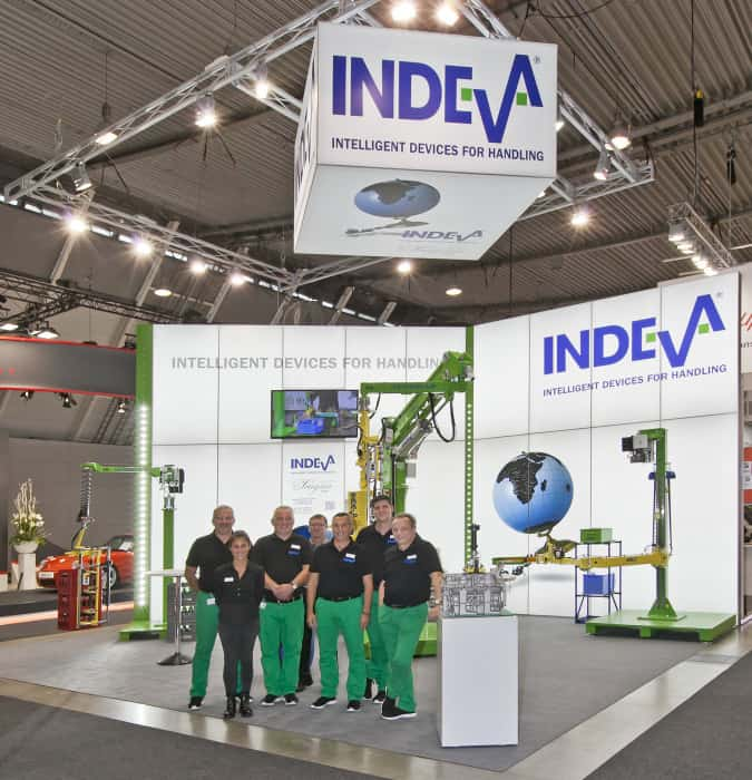 Scaglia INDEVA auf der Messe Stuttgart. Motek 2017