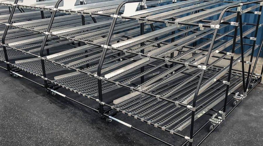 INDEVA Lean System® ist das ideale Baukastensystem um solche Strukturen für die verschiedensten Anwendungen zu bauen.
