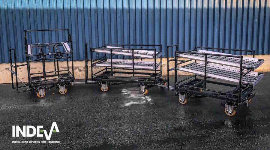 Unsere modularen Rollwagen sind leicht, einfach und sicher zu manövrieren. Ideal für den Materialumschlag in einer Vielzahl von Industriebereichen.