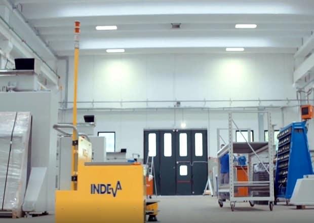 Große Unternehmen mit Hightech-Produkten entscheiden sich für INDEVA® interne Logistiklösungen, um den Lastaufnahmevorgang an ihren Produktionsstandorten zu optimieren.