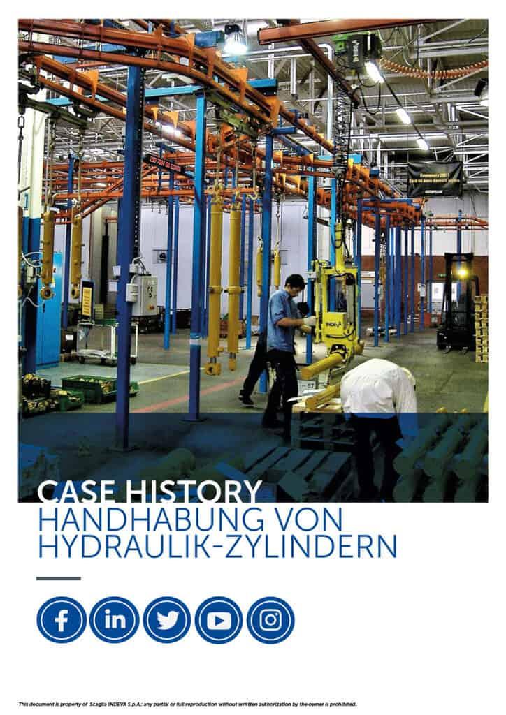 Indeva's Fallstudien: Hydraulikzylinder mit Sicherheit und Präzision bewegen, die Produktivität im Unternehmen steigern.